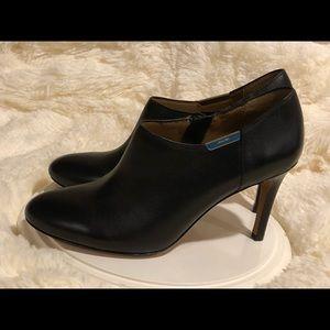 Coach black heeled booties
